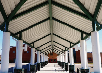 riverlawn elementary school entrance - fairlawn virginia - 5 design architects